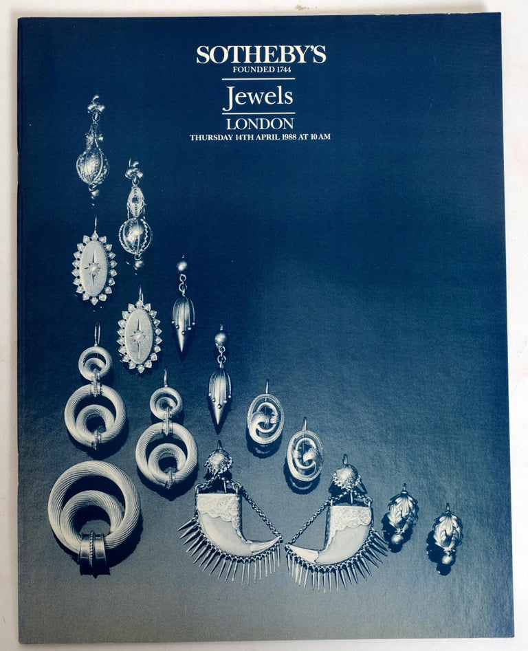 Set of 3 jewelry catalogues from Sotheby's, London and Amsterdam. First Edition softcover catalogs illustrated in color and black and white and the lots fully described.