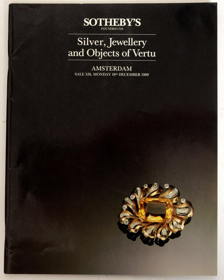 20th Century Set of 4 Jewelry Catalogues from Sotheby's & Christie's, First Edition For Sale