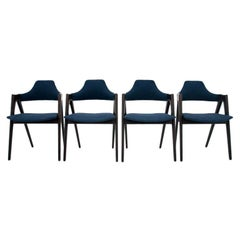 Set of 4 Kai Kristiansen Compass Chairs, Danish Design, after Renovation