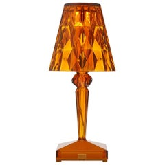 Set of 4 Kartell Battery Lamps in Amber by Ferruccio Laviani