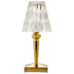 Set of 4 Kartell Battery Lamps in Metallic Gold by Ferruccio Laviani