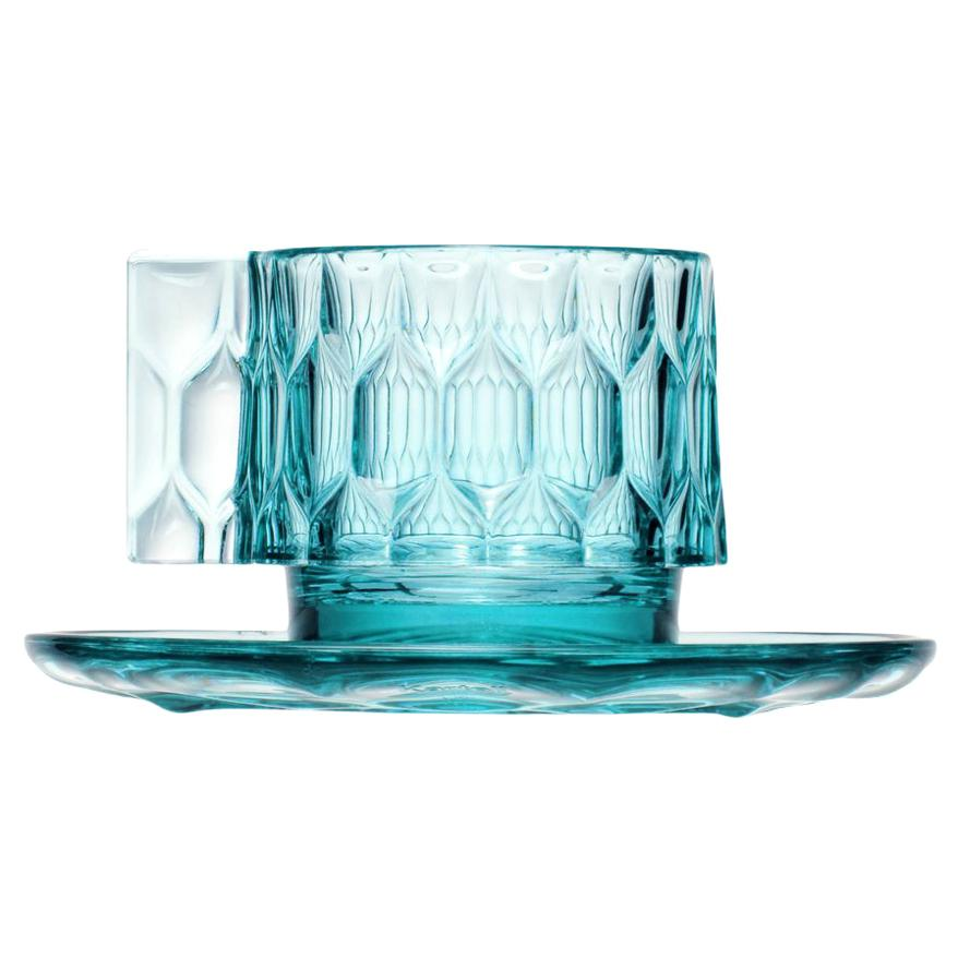 Set of 4 Kartell Jellies Espresso Cup in Light Blue by Patricia Urquiola