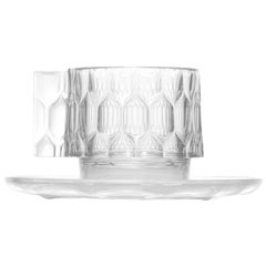 Set of 4 Kartell Jellies Espresso Cups in Crystal by Patricia Urquiola