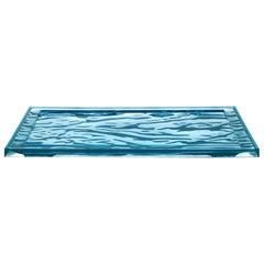 Set of 4 Kartell Medium Dune Trays in Blue by Mario Bellini