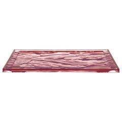 Set of 4 Kartell Medium Dune Trays in Pink by Mario Bellini