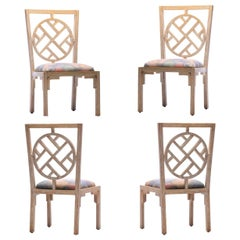 Set of 4 Kelly Wearstler Chinoiserie Side Chairs for the Viceroy Miami