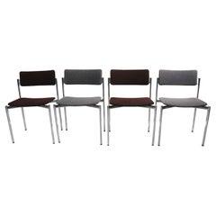 Set of 4 Kiki Chairs Designed by Ilmari Tapiovaara for Stendig