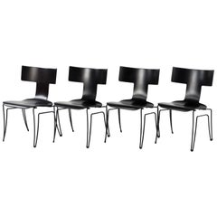 Set of 4 Klismos Style Anziano Dining Chairs by John Hutton for Donghia