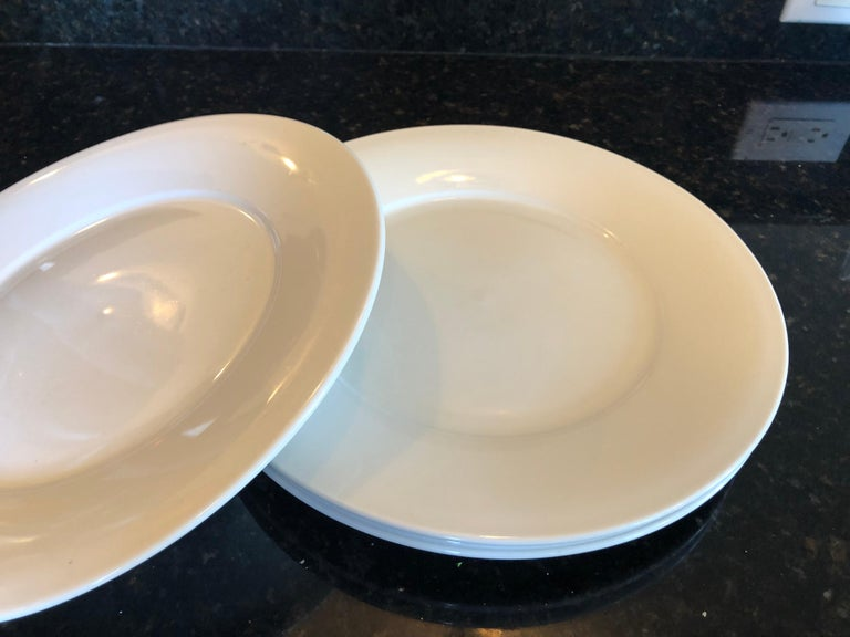 Bohemian Set of '4' Large French Porcelain Dinner Plates For Sale