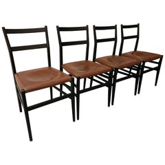 Set of 4 Leggera Chairs by Gio Ponti