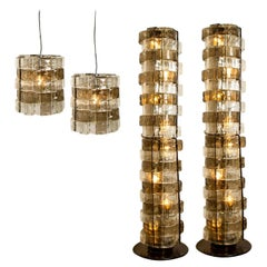Set of 4 Light Fixtures by Carlo Nason, Italy, circa 1969