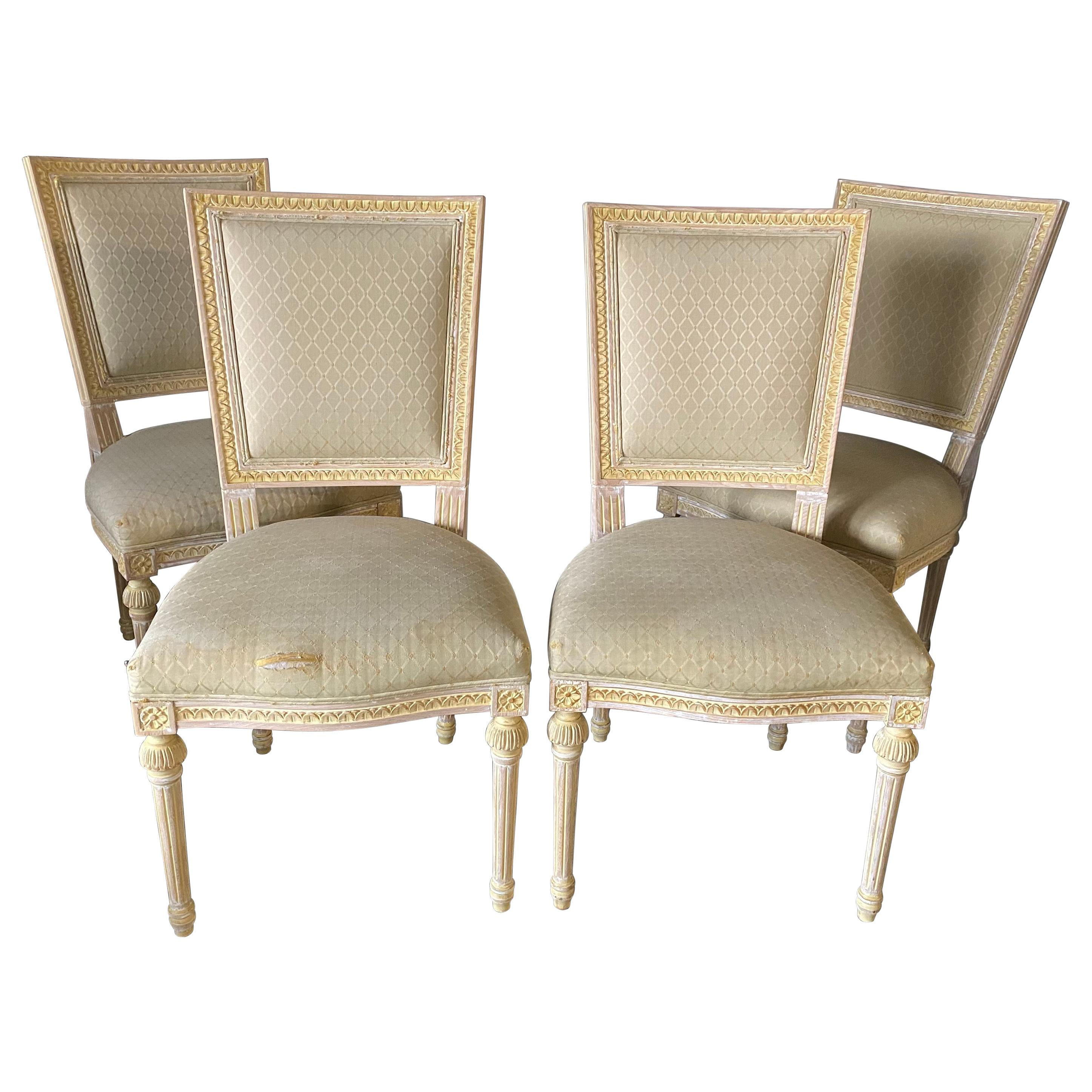 Set of 4 Louis XVI Style Dining Chairs