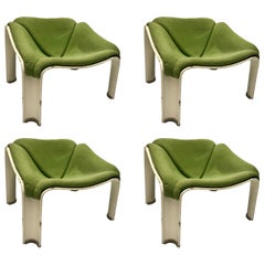 Set of 4 Lounge Chair F300 for Artifort, Pierre Paulin, 1967