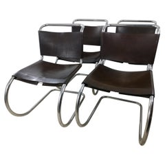 Set of 4 Ludwig Mies van der Rohe MR10 Dining Chairs Knoll