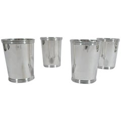 Set of 4 Manchester Sterling Silver Mint Julep Cups