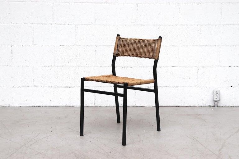 Dutch Set of 4 Martin Visser Rattan Dining Chairs For Sale