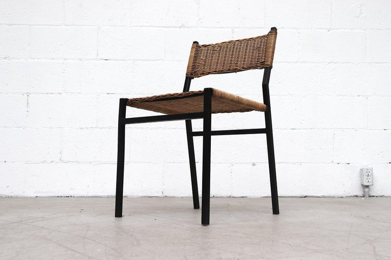 Set of 4 Martin Visser Rattan Dining Chairs For Sale 1