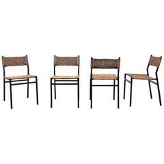 Set of 4 Martin Visser Rattan Dining Chairs
