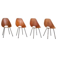 Set of 4 Medea Dining Chairs by Vitorio Nobili for Fratelli Tagliabue, 1955