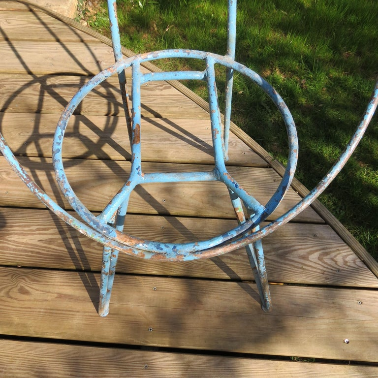 Set of 4 Metal Garden Chairs from the 1950s For Sale 5
