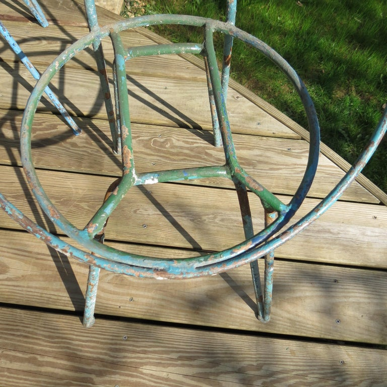 Set of 4 Metal Garden Chairs from the 1950s For Sale 1