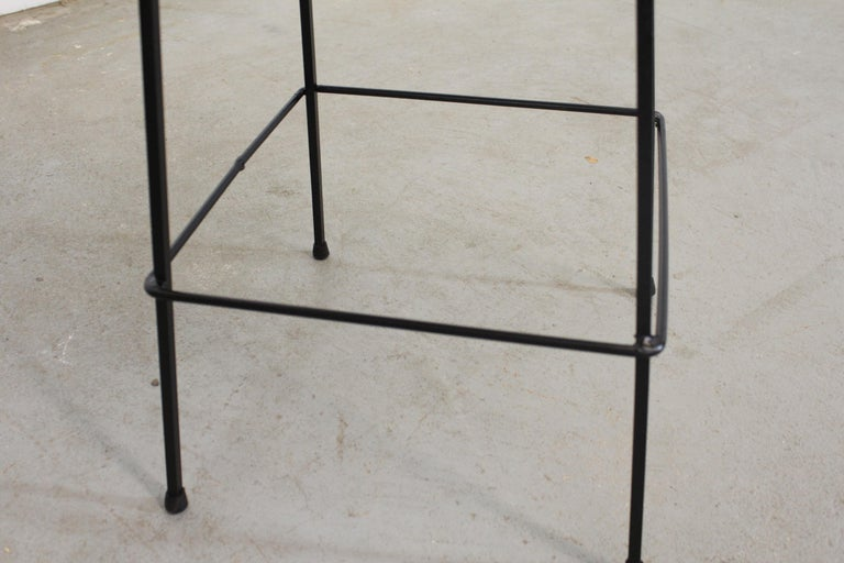 Set of 4 Mid-Century Arthur Umanoff Slat Style Bar Stools For Sale 3