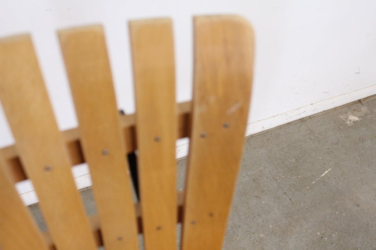 Set of 4 Mid-Century Arthur Umanoff Slat Style Bar Stools For Sale 1