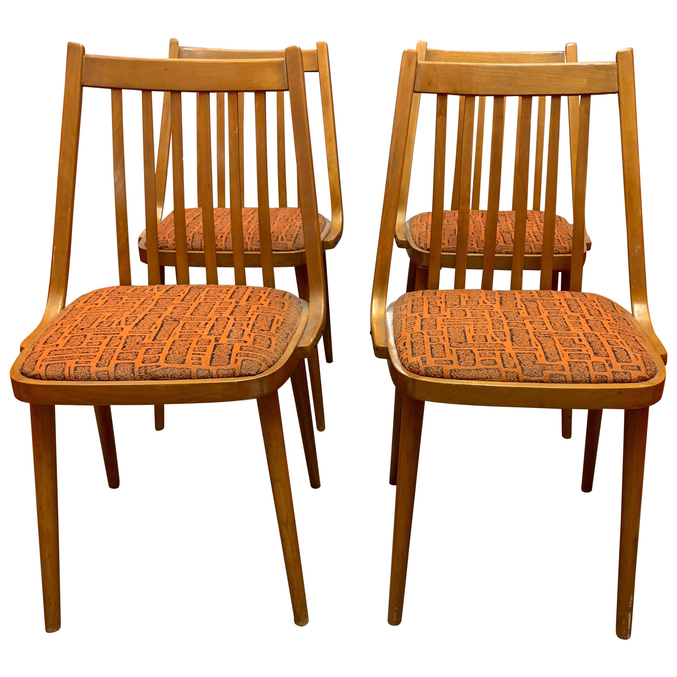Set of 4 Midcentury Danish Dining Chairs