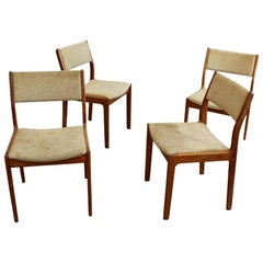 Set of 4 Midcentury Danish Modern Teak Dining Chairs
