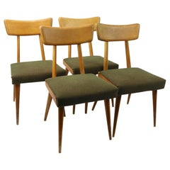 Set of 4 Mid Century Dining Chairs attributed to Russel Wright for Conant Ball