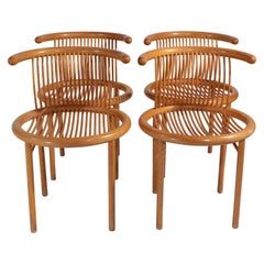 Set of 4 Mid Century Dining Chairs by Helmut Lubke