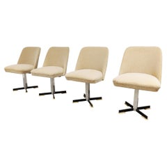 Set of 4 Mid Century Fabric Swicle Chairs, 1960s