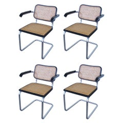 Set of 4 Mid Century Marcel Breuer Cesca Chairs