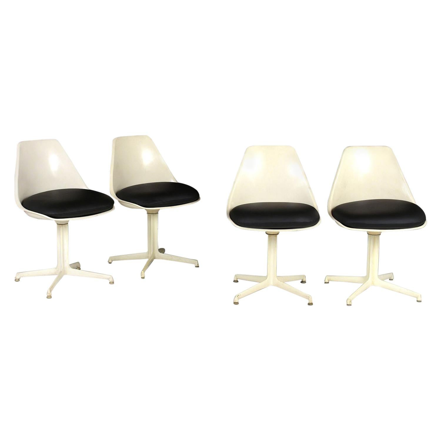 Set of Four Herman Miller Chairs