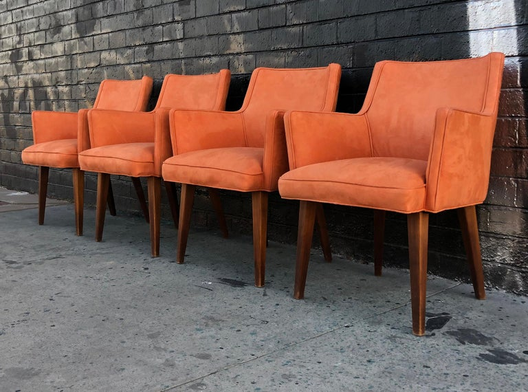 Set of 4 Mid-Century Modern Dining Chairs In Good Condition For Sale In Las Vegas, NV