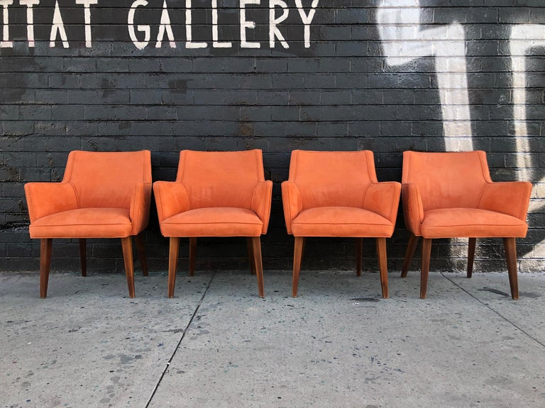 Late 20th Century Set of 4 Mid-Century Modern Dining Chairs For Sale