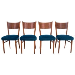 Set of 4 Mid-Century Modern Dining Chairs in Blue