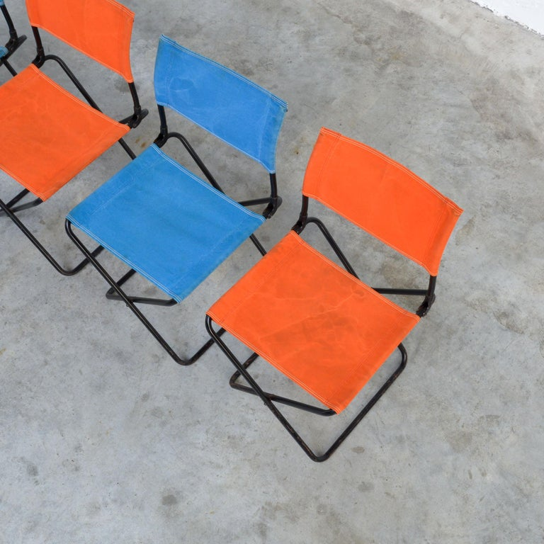 Set of 4 Mid-Century Modern Garden Chairs In Good Condition For Sale In Vlimmeren, BE