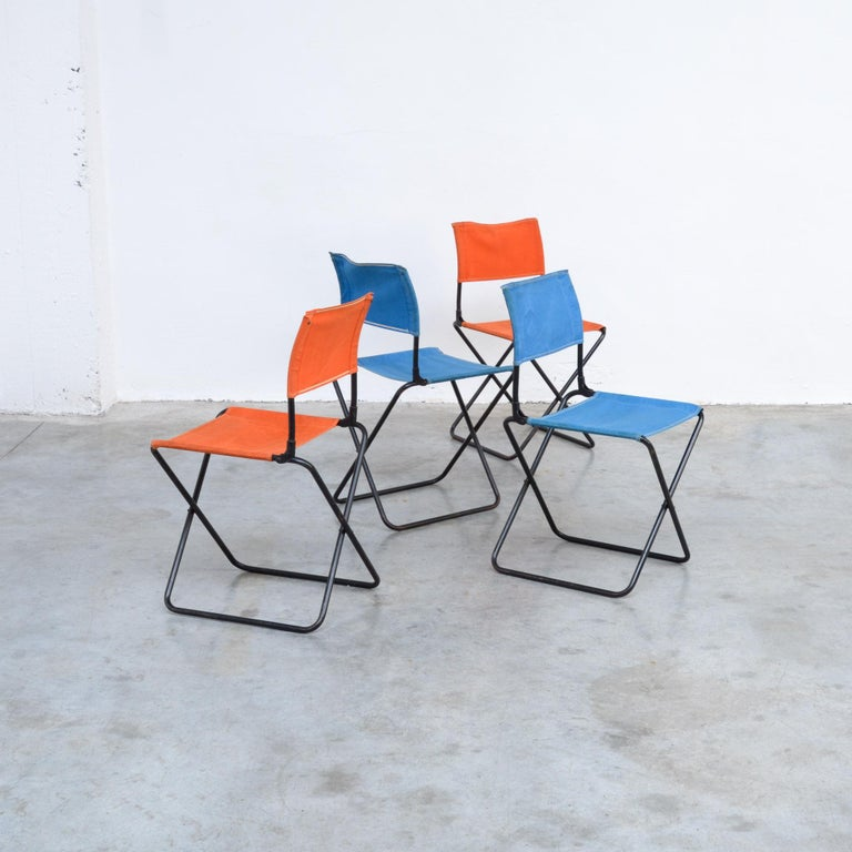 Mid-20th Century Set of 4 Mid-Century Modern Garden Chairs For Sale