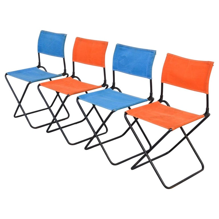 Set of 4 Mid-Century Modern Garden Chairs For Sale