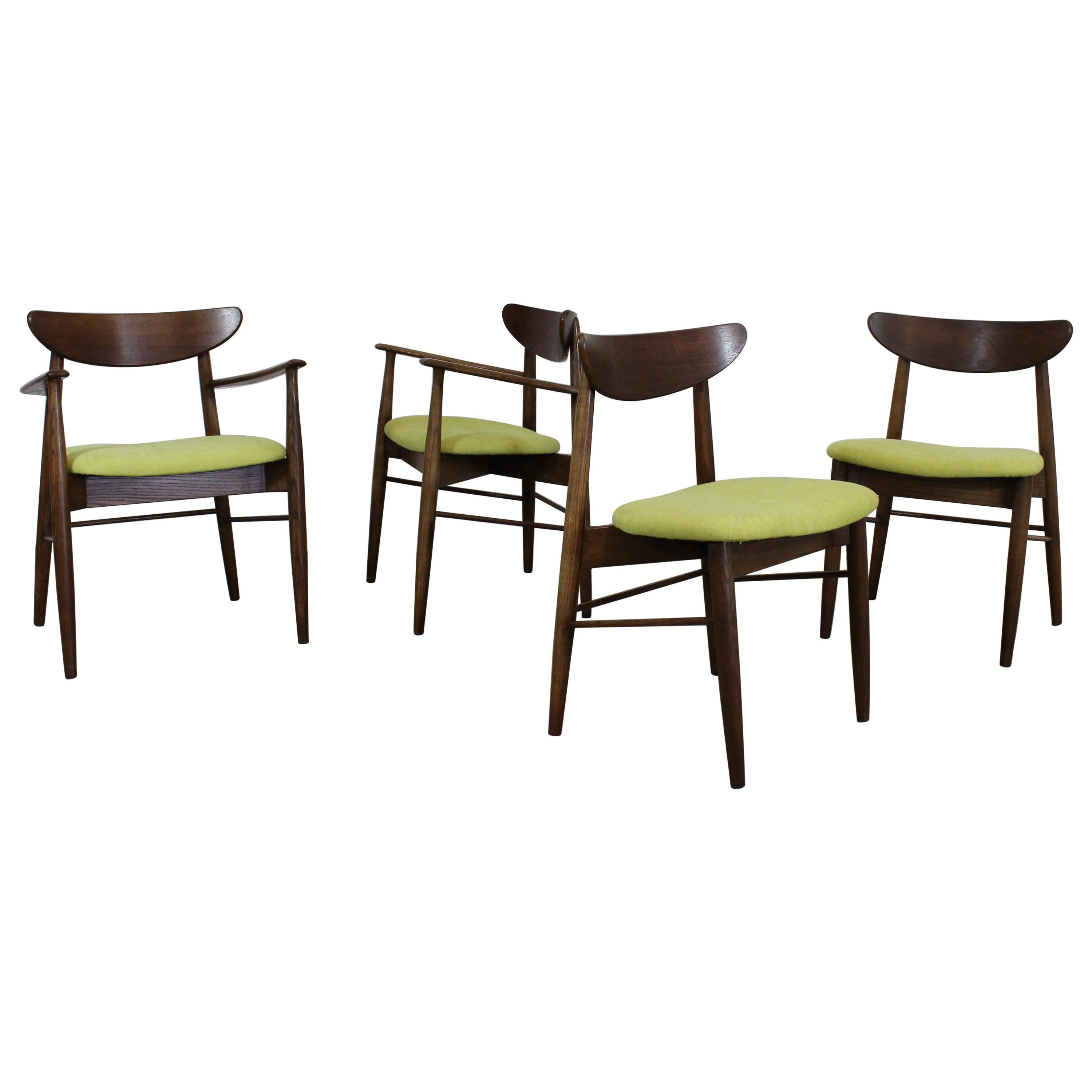 Set of 4 Mid-Century Modern H Paul Browning Shell Back Dining Chairs