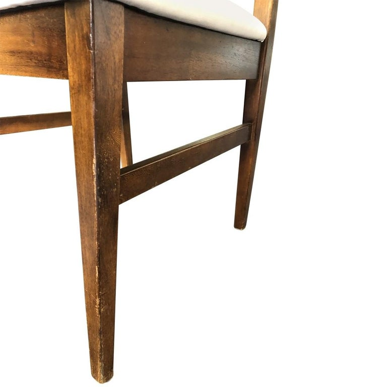 Set of 4 Mid-Century Modern Open Rail Dining Chairs For Sale 10