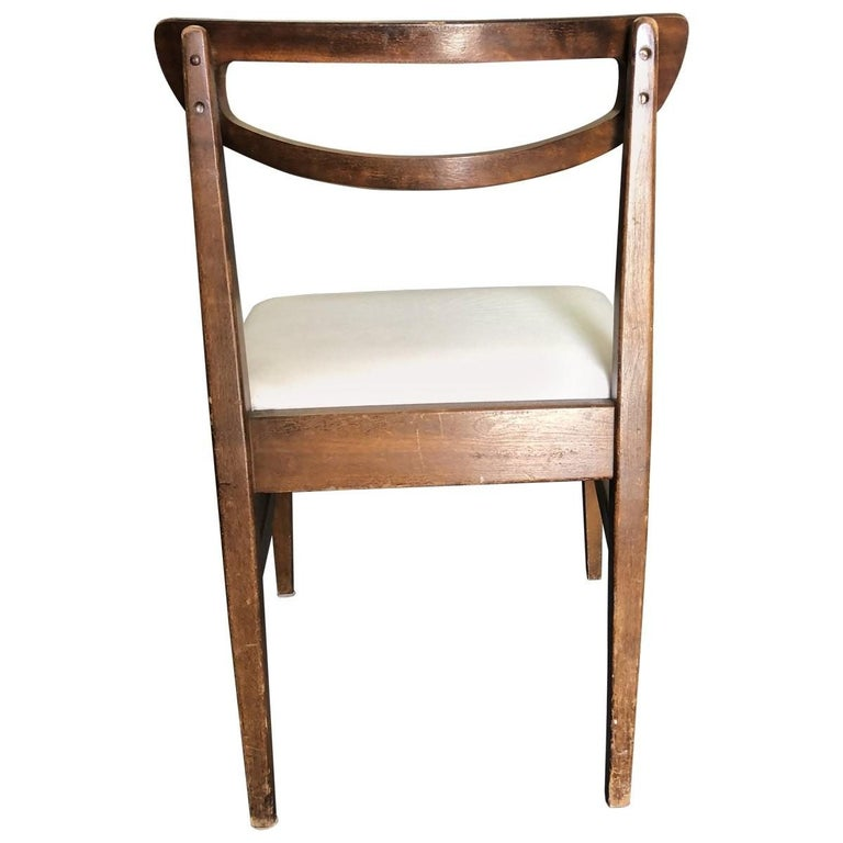Set of 4 Mid-Century Modern Open Rail Dining Chairs For Sale 3