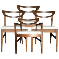 Set of 4 Mid-Century Modern Open Rail Dining Chairs
