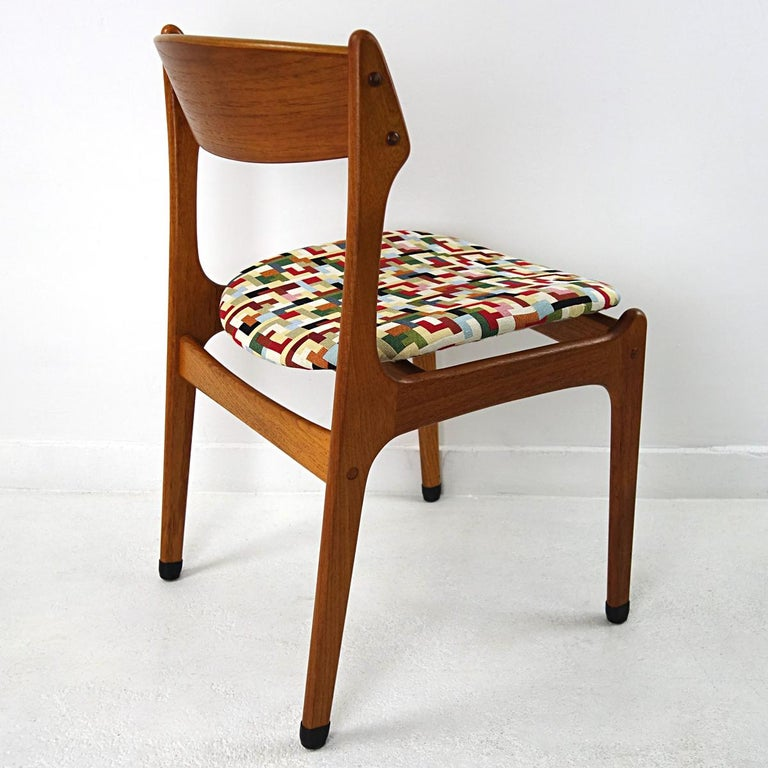 Mid-20th Century Set of 4 Mid-Century Modern Teak Wood Dining Chairs by Johannes Andersen For Sale