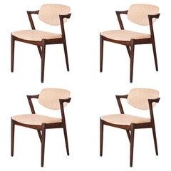 Set of 4 Mid-Century Modern Z Chairs by Kai Kristiansen C.1960's