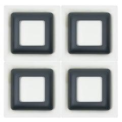 Set of 4 Midcentury Steel Sconces by Doria Leuchten
