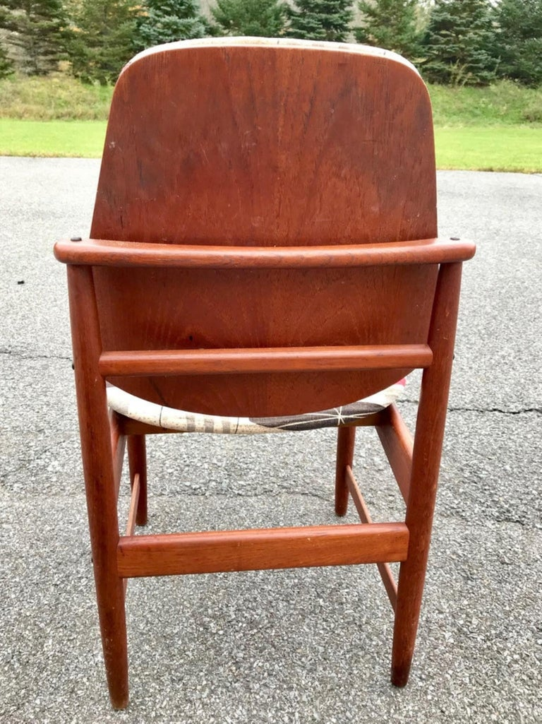 Set of 4 Midcentury Arne Hovmand Olsen Danish Teak Armchairs & Side Chairs In Good Condition For Sale In Poughkeepsie, NY