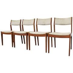 Set of 4 Midcentury Danish Modern Teak Dining Chairs