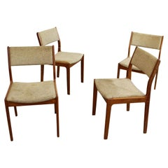 Set of 4 Mid-century Danish Modern Teak Dining Chairs